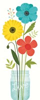 Seaside Bouquet V Mason Jar Fine-Art Print
