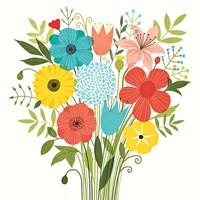 Seaside Bouquet I Fine-Art Print