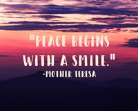 Peace Begins With a Smile - Mother Teresa Quote Fine-Art Print