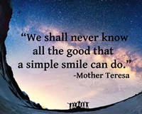 A Simple Smile - Mother Teresa Quote Fine-Art Print