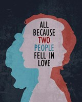 All Because Two People Fell In Love Silhouette Fine-Art Print