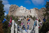Mount Rushmore National Memorial, Avenue of Flags, South Dakota Fine-Art Print