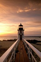 Brant Point lighthouse at Dusk, Nantucket Fine-Art Print