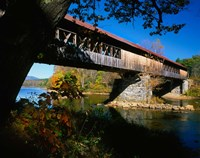 New Hampshire, Blair Bridge, Pemigewasset River Fine-Art Print