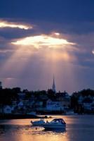 The North Church Rises Above Portsmouth, Piscataqua River, New Hampshire Fine-Art Print