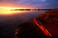 Kayak and Sunrise in Little Harbor in Rye, New Hampshire Fine-Art Print