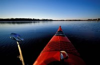Kayaking in Little Harbor, Odiorne Point State Park, New Hampshire Fine-Art Print