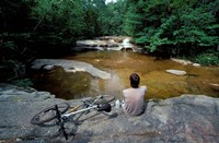 Mountain Biking, Swift River, White Mountain National Forest, New Hampshire Fine-Art Print
