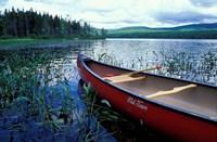 Canoeing on Lake Tarleton, White Mountain National Forest, New Hampshire Fine-Art Print