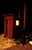 Outhouse at the Sub Sig Outing Club's Dickerman Cabin, New Hampshire Fine-Art Print