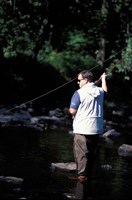 Fly Fishing on the Lamprey River, New Hampshire Fine-Art Print