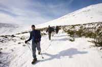 Winter Hiking near Lion Head, Mount Washington, White Mountain National Forest, New Hampshire Fine-Art Print