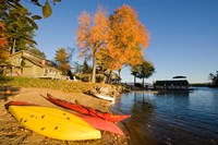 Kayaks at Lake Winnipesauke, New Hampshire Fine-Art Print