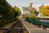 Scenic railroad at Weirs Beach, New Hampshire Fine-Art Print