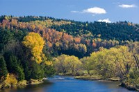 Fall along the Connecticut River in Colebrook, New Hampshire Fine-Art Print
