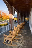 Front Porch of the Hanover Inn, Dartmouth College Green, Hanover, New Hampshire Fine-Art Print