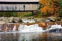 Covered bridge over Wild Ammonoosuc River, New Hampshire Fine-Art Print