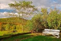 New Hampshire, Sugar Hill, Bench Fine-Art Print