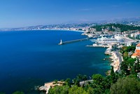 Aerial View of the Port, Nice, France Fine-Art Print