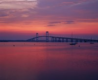 The Newport Bridge at sunset, Newport, Rhode Island Fine-Art Print