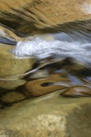 New Hampshire Abstract design formed by rock and rushing water of the Swift River, White Mountain NF Fine-Art Print