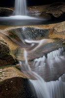 New Hampshire, White Mountains National Forest. Detail of Sabbaday Falls. Fine-Art Print