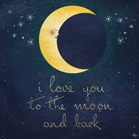 I Love You To The Moon 1 Fine-Art Print
