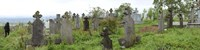 View of Cemetery, Bradu, Arges County, Romania Fine-Art Print