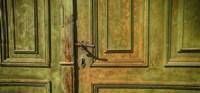 Closed Door of a House,  Transylvania, Romania Fine-Art Print