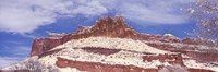 Snow Covered Cliff in Capitol Reef National Park, Utah Fine-Art Print
