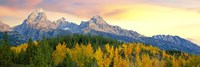 Sunrise Over Mountain Range, Grand Teton National Park, Wyoming Fine-Art Print