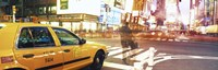Blurred Traffic in Times Square, New York City Fine-Art Print