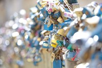 Abundance of Love Padlocks on Railings, Prague Fine-Art Print