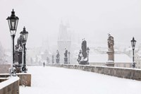 Charles Bridge in Winter, Prague Fine-Art Print