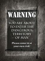 Welcome To Man Cave Warning Fine-Art Print