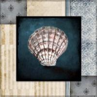 Blue Sea Clam Shell 2 Fine-Art Print