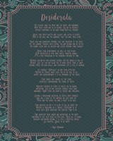 Desiderata Floral Frame Turquoise Fine-Art Print
