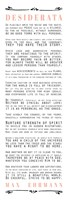 Desiderata Bus Roll Black and Peach Text Fine-Art Print