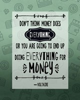 Don't Think Money Does Everything Inverted Fine-Art Print