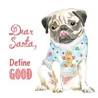 Glamour Pups Christmas IV Fine-Art Print
