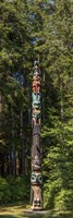 Totem Pole in Forest, Sitka, Southeast Alaska Fine-Art Print