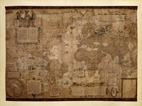 Map of the World, c.1500's (antique style) Fine-Art Print