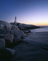 Peggys Cove Lighthouse at Night, Nova Scotia, Canada Fine-Art Print