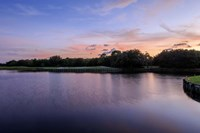 Sunset Over Golf Course in Sarasota, Florida Fine-Art Print