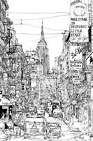 B&W City Scene II Fine-Art Print