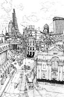 B&W City Scene III Fine-Art Print