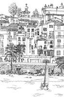 B&W City Scene V Fine-Art Print