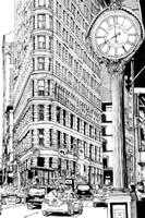 B&W City Scene VII Fine-Art Print