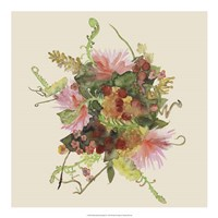 Watercolor Floral Spray II Fine-Art Print