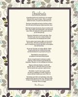 Desiderata Leaf Pattern Frame Light Fine-Art Print
